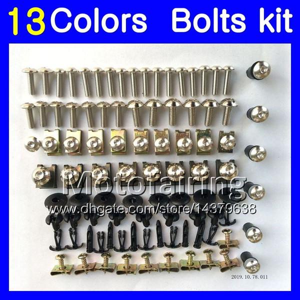 Kit completo de pernos de carenado para KAWASAKI NINJA ZX11R 93 94 95 96 ZX-11R ZX11 ZZR1100 97 98 99 00 01 Kit de pernos de tuerca para tornillos 13Colors