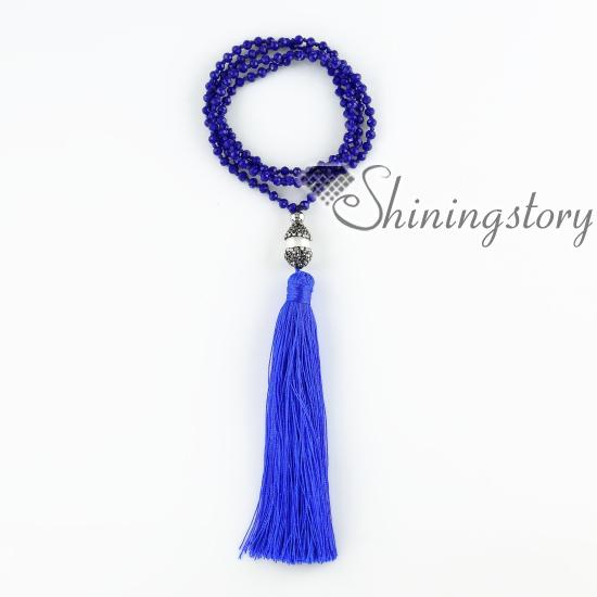 mala bead necklace with tassel yoga jewelry crsytal necklace with fresh water pearl pendants prayer beads inspired tassel bracelets