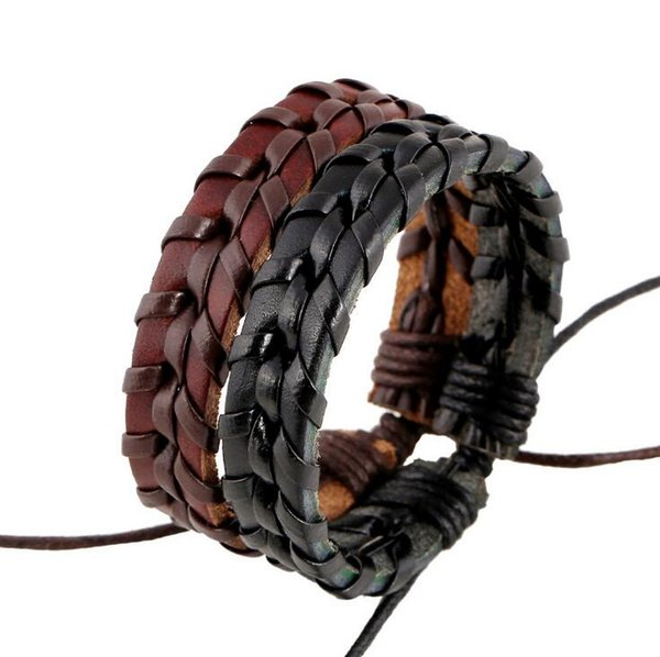 Free shipping Pure handmade leather stitching bracelet couple personality wild fashion FB458 mix order 20 pieces a lot Slap & Snap Bracelets