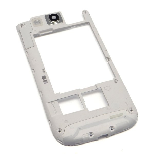 100PCS OEM Black white For Samsung Galaxy S3 I9300 Middle Back Frame Chassis Plate Bezel Back Housing Replacement free DHL