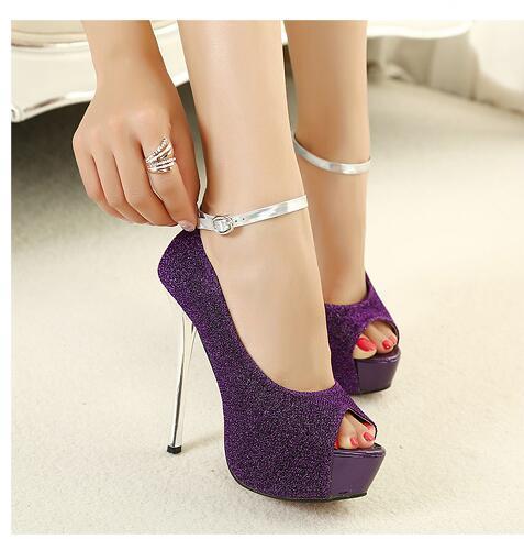 Europe America Women High heels New style High heels Waterproof Taiwan fashion fish's mouth Women shoes