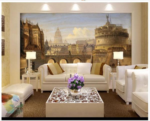 Carta Da Parati 3d Roma.Acquista High End Personalizzato 3d Foto Carta Da Parati Murales