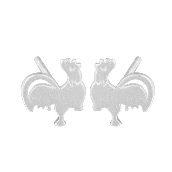 5 pairs/lot 925 Sterling Silver Earring Jewelry Chicken Stud Lovely Fashion for Women Men Factory Price Drop Shipping