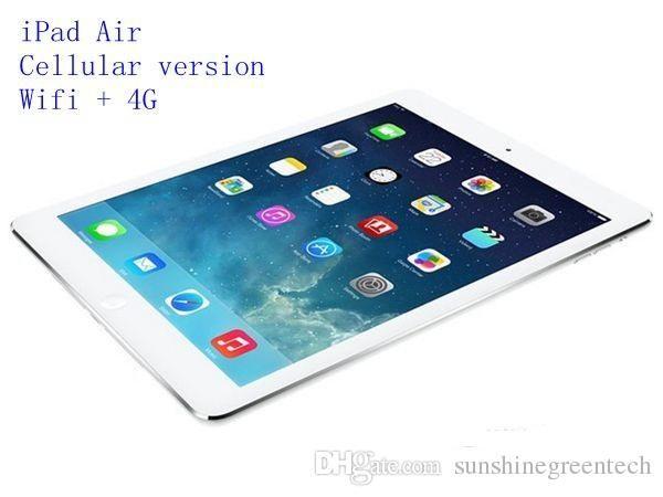 best selling Refurbished iPad Air Cellular version 16GB 32GB 64GB Wifi +4G 100% Original iPad 5 Tablet PC 9.7inch Retina Display refurbished Tablet