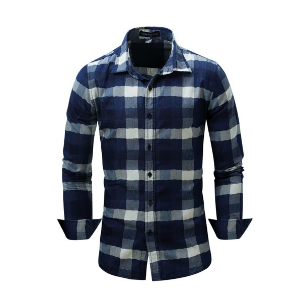 2017 Men'S Slim Fit Long Sleeve Button Down Shirts Spring New ...