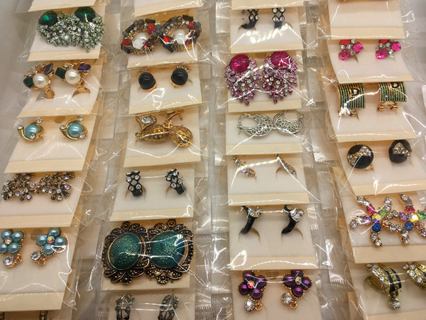 best selling Fashion Exquisite Mix Style Crystal Rhinestone Jewelry Ear Stud Earrings For Women Best Gift Wholesale Pairs
