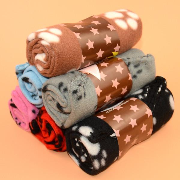 Couverture douce empreinte de patte pour chien chat chien molletonné jette 60 * 70cm Chaud impression de patte chaude impression de chien chat chien chiot mollet p98