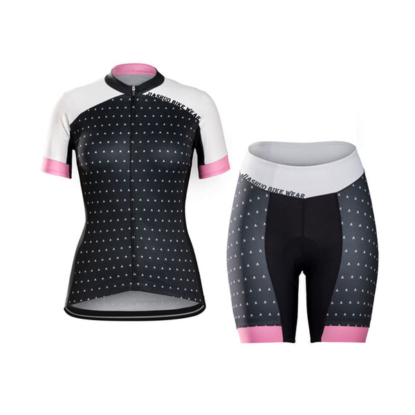 Women Customized NEW JIASHUO 2017 arrow Classical mtb road RACING Team Bike Pro Cycling Jersey Sets Shorts Clothing Breathing Air