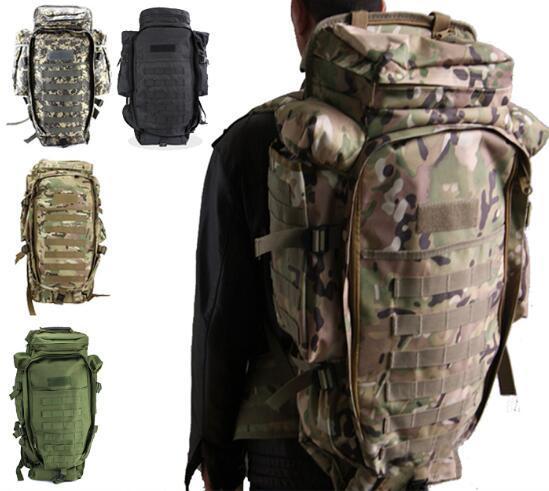 Venda quente Ao Ar Livre Do Exército Dos Homens / Mulheres Tático Ao Ar Livre Tático Mochila Camping Caminhadas Rifle Bag Trekking Esporte Mochilas de Viagem Escalada Sacos