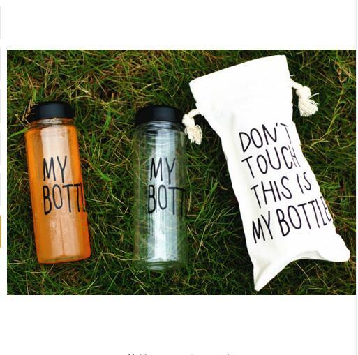 2 PC Cheap 500ml Fashion Unbreakable Water Bottle Plastic Portable Sports Cup With Straw My Creative Bottle BPA Free