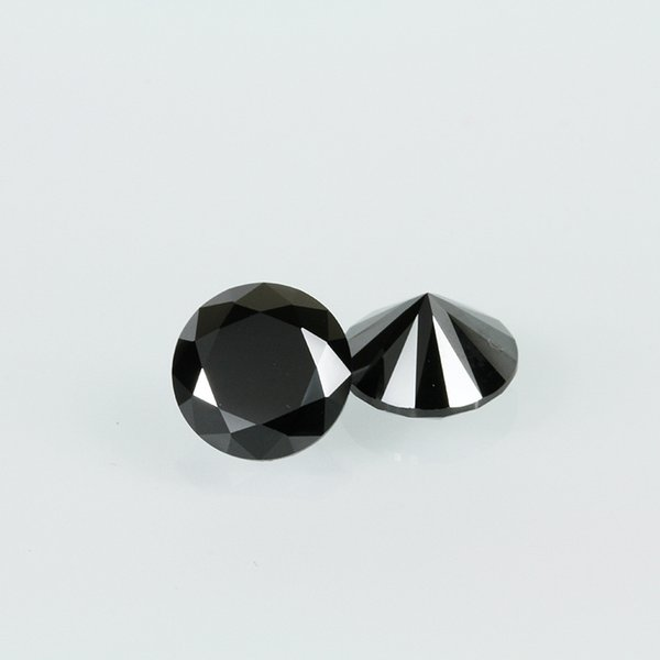 High Quality Machine Cut Black Color 3A Cubic Zirconia Big Size 7-20mm Round Synthetic Loos Stone For Jewelry Making 200pcs/lot