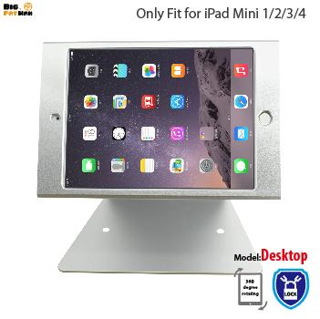 For iPad mini 1 2 3 4 holder desktop security holder stand for kiosk POS secure with lock shop support checkout counter display