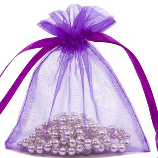Pochettes Cadeau,100 Pack Sachets Pochettes Sacs De Poche Cadeau 9x12cm pour F/êtes Mariage C/él/ébrations Blanc Organza