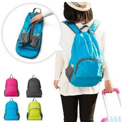 4 Colors Outdoor Travel Portable Bags Folding Light Weight Waterproof Backpack Sports Bag Riding Skin Bag Storage Backpack CCA6628 100pcs