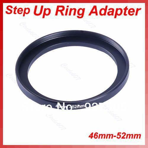 Wholesale- 5pcs/lot Metal 46mm-52mm Step Up Lens Filter Ring 46-52 mm 46 to 52 Stepping Adapter