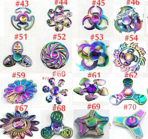 Newest Rainbow fidget spinners fidget Hand Spinner Zinc alloy Spinner Fidget Toy EDC Autism ADHD Finger Gyro kids Toys Adult Gifts NEW