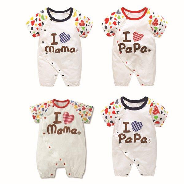 Mix order Summer New 0-12 Month Baby short-sleeved garment 100% Cotton crawling clothes