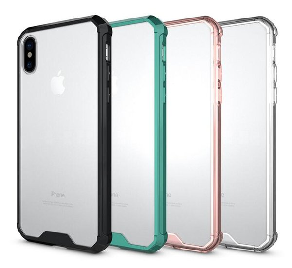 cell Phone cases For iPhone X 6 6S 7 8 Plus Samsung Galaxy s6 s7 s8 plus note8 Crystal Soft TPU Hard Acrylic Back Cover Anti shock Cover