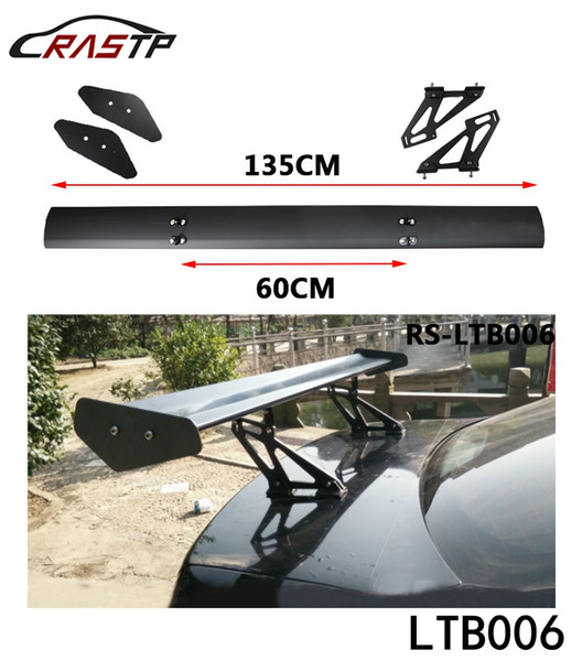 best selling RASTP-Universal Auto Car Spoilers & Wings 135cm Lightweight Aluminum Car Spoiler GT Racing Wing Bracket Stand LS-LTB006