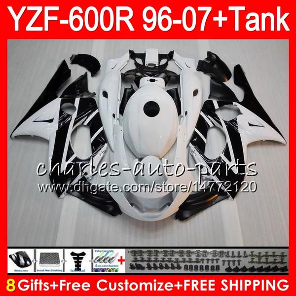 8Gift 23Color para YAMAHA Thundercat YZF600R 96 97 98 99 00 01 53HM5 Negro blanco YZF 600R YZF-600R 1996 1997 1998 1999 2000 2001 Kit de carenado
