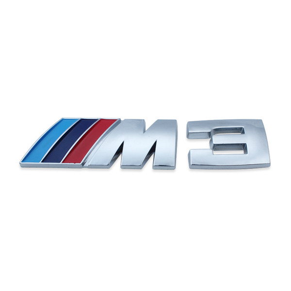 best selling 50Pcs M3 Logo Badge Emblem Sticker Decal for BMW M3 318i 330i E46 Z3 Blue  Dark Blue  Red Free Shipping