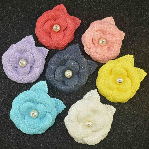 elegant flower brooch lapel pins camellia handmade boutonniere stick for women retro Court style brooches jewelry