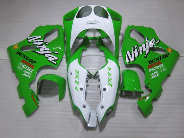 High quality Fairing kit for Kawasaki Ninja ZX7R 96 97 98 99 00-03 green white motorcycle fairings set ZX7R 1996-2003 OY08