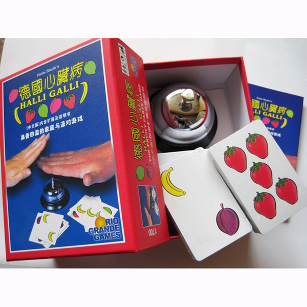 Halli Galli Board Game 2-6 Players Cards Game For Party/Family/Friends Easy To Play With Free Shipping