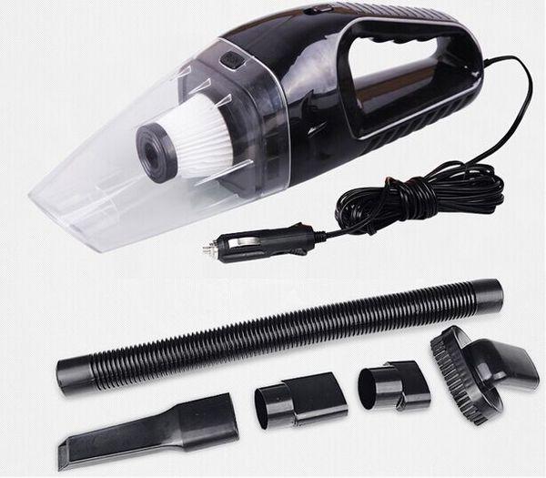 Al por mayor-Accesorios de automóviles Portátil 5M 120W 12V Aspirador de coche de mano Mini Súper Succión húmedo y seco Dual uso Vaccum Cleaner para coche