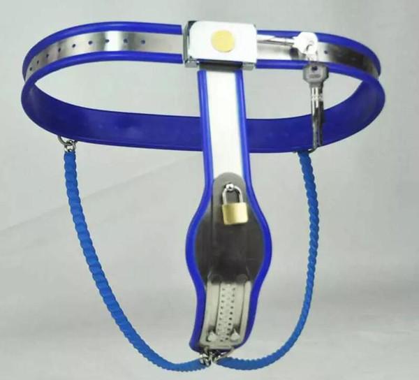 Weibliche Einstellbare Modell Y Edelstahl Keuschheitsgürtel Geräte Bondage Keuschheitsgürtel Gerät Höschen Metall Unterwäsche BDSM Sex Spielzeug