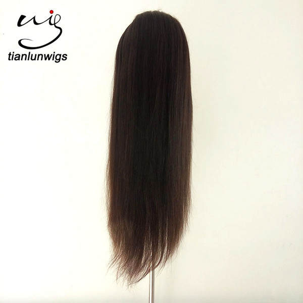 fast delivery yaki straight natural color lace front wig with combs and straps sewn in wigs indian remy virgin hair full lace wigs