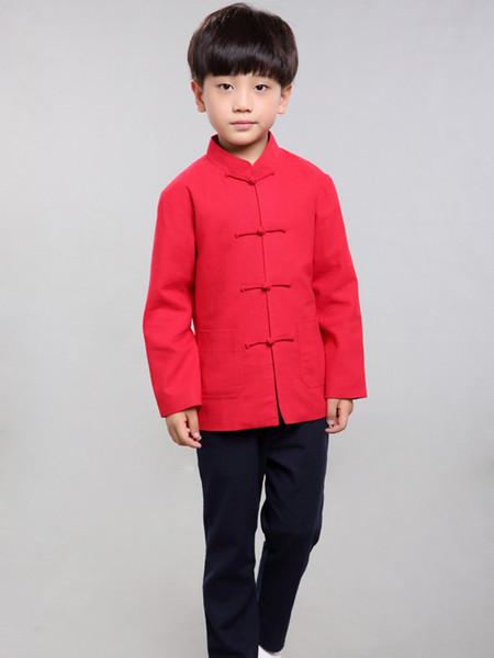 100% Handmade Boys Long Sleeve Kung Fu Tai Chi Martial Arts Kids Jacket#102