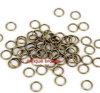 500 pcs 4mm 5mm 6mm Brass Open Jumprings Antique Brass Tone Metal Bronze Jump rings - split rings DIY supplies jewelry accessories