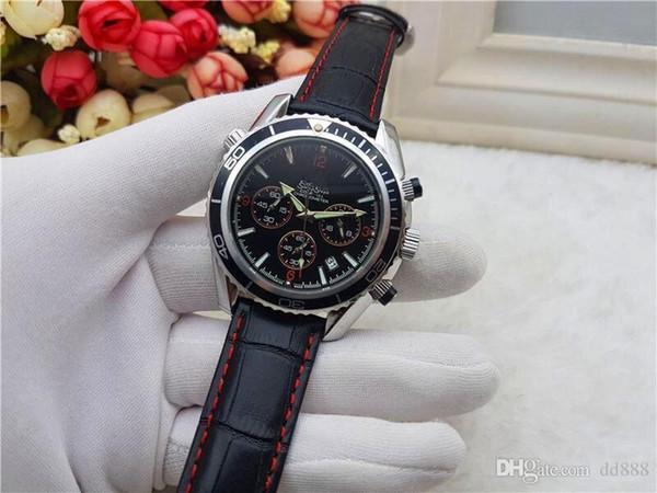 best selling All Subdials Work leiseure Mens women Stainless Steel Quartz Wristwatches Stopwatch watch Watch Top relogies for men relojes Best Gift
