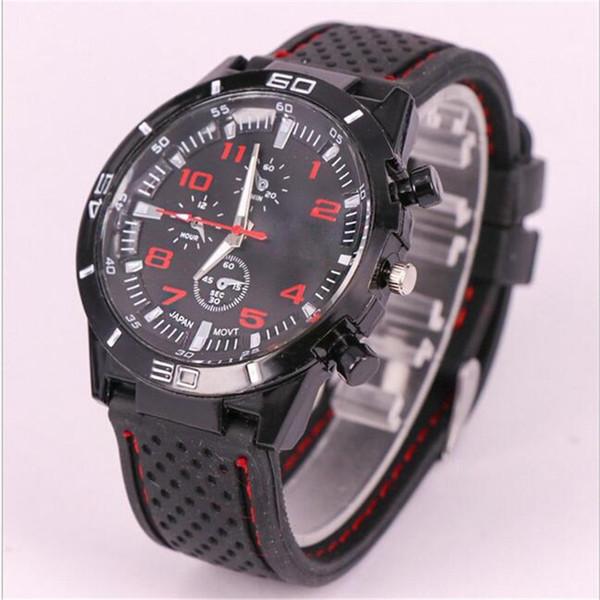 GT grand touring relojes de pulsera de cuarzo de silicona para hombres mujeres unisex F1 Racing car sports Militar exterior de silicona jell relojes personalizados