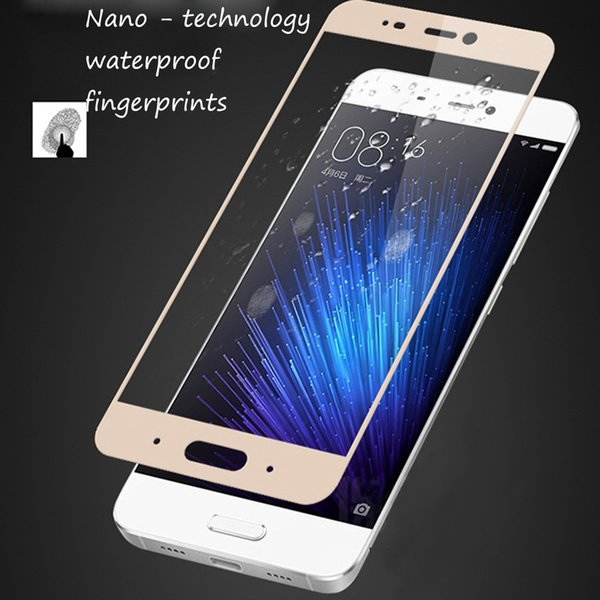 Xiaomi 6 Full Screen Silk Screen Toughened Film Carved Tempered Glass Front Film for Xiaomi 6 Black White Colors