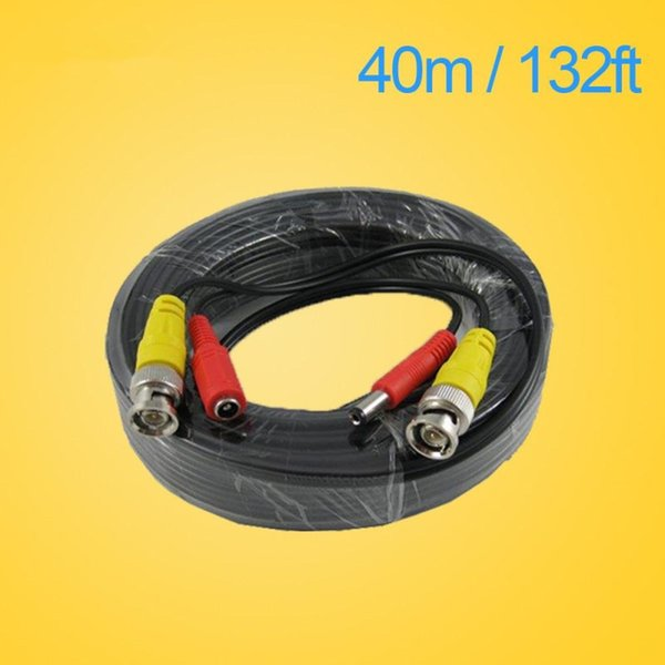 LLLOFAM 40m 132Feet CCTV BNC DC Plug Cable for CCTV Camera Coaxial Video Power Cable for Surveillance camera DVR System Kit