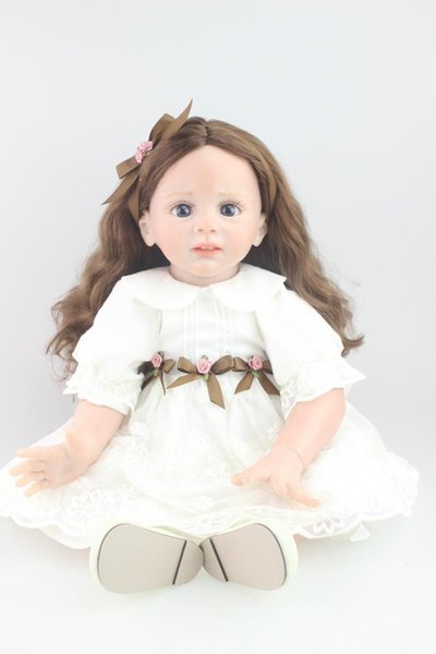 Soft 24 Inch Sitting Baby Alive Doll Silicone Reborn Baby Doll With Big Eyes Realistic Princess Girl Doll Looks Angel