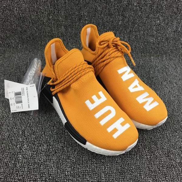 fe39bef1ed776 2016 Brazil s Olympic NMD Runner HumanRace Real Boost Pharrell s Williams  Fashion Running Shoes Top Human Race