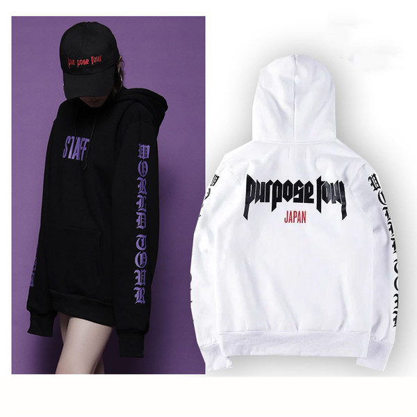 wholesale- purpose tour hoodie japan staff sweatshirt men black white the world tour hoodies and sweatshirts purple tracksuit