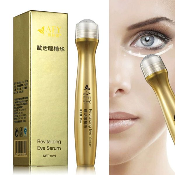 24K Golden Collagen Eye Cream Slide Ball Eye Essence Revitalizing Serum  Remove Dar Circle Pouch Pufiiness Moisturizing Firming Facial Skin Care
