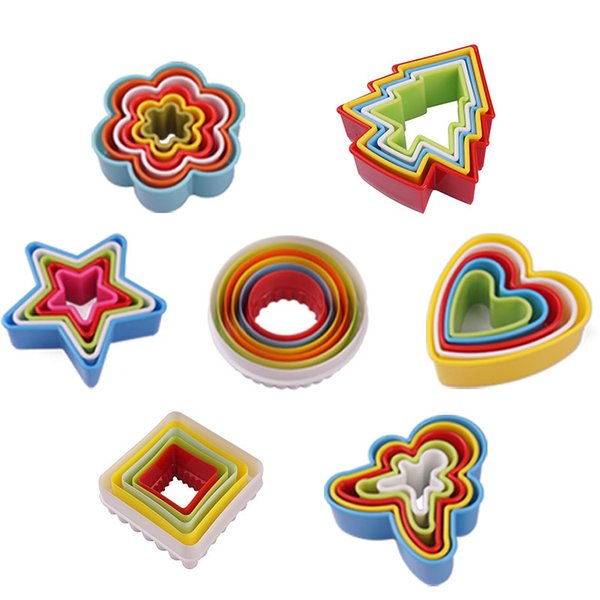 Multi style cookies cutter Colorful plastic mousse ring Heart shape etc diy cake mold decor edge cutter