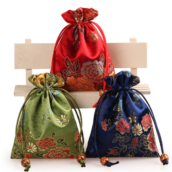 best selling New Fashion multicolors 11*14cm Chinese style bag fit for necklace bracelet earring gift package jewelry bags B1110