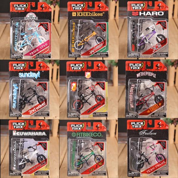 Wholesale-Mini Finger BMX Flick Trix Finger Bikes BMX Toys Gadgets For Tech Dec Professional Mini Bicycle Novelty Gag Toys For Boys Games