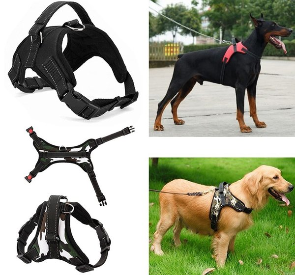 Pet Soft Adjustable Harness Pet Large Dog Walk Out Harness Vest Collar Hand Strap for Small and Large Dogs Pitbulls
