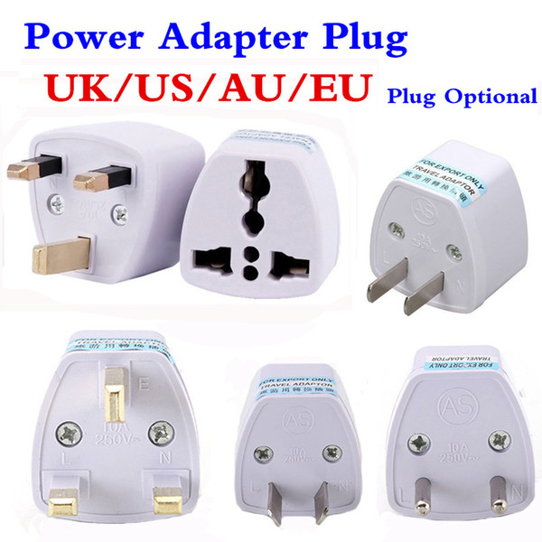 top popular Universal Travel Adapter EU US AU to UK AC Travel Power Plug Charger Adapter Converter 250V 10A Socket Converter White 2020