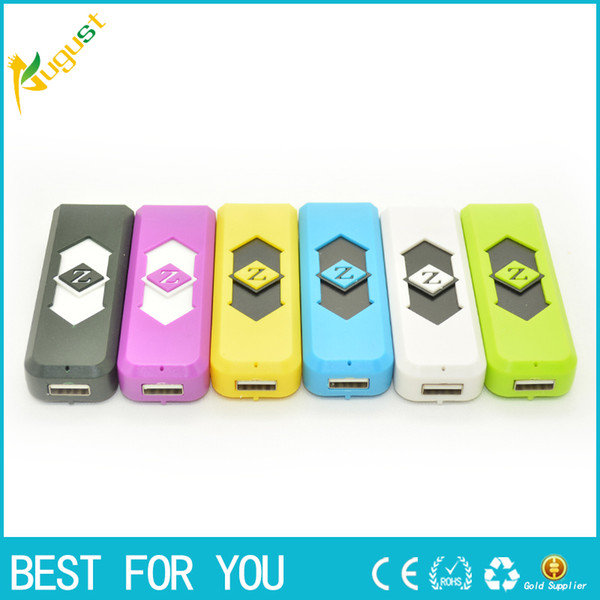 best selling Wholesale - Portable USB Electronic Rechargeable Battery Cigarette Flameless Lighter Power Battery Cigarette with display box smoking pipe