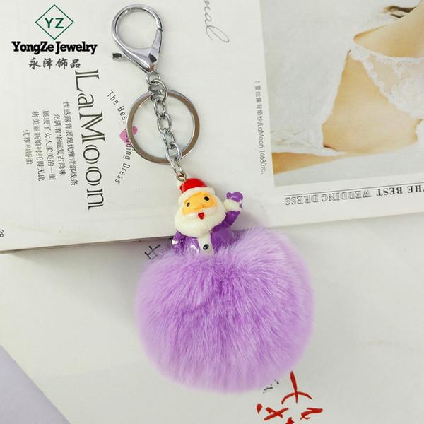 Neu Tasche Schlüssel Anhänger Kaninchen Pelz Fell Handtasche Key Chain Princess