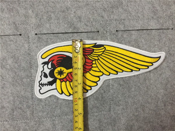 Sewing Notions & Tools Wholesaler Moneyking Sells Dhl Free Hells Angels  Patch Emroidered Stickers On T Shirt Jacket Hoodies Big Patches Iron On