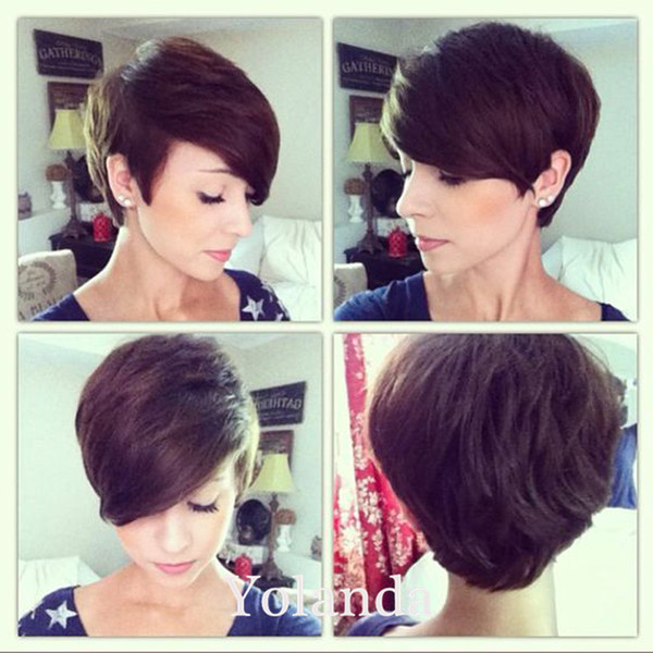 Short Pixie Cut hairstyles Rihanna short hair wigs Cheap bob wigs full lace wig short pixie lace wig human hair wigs for black women